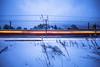Domat/Ems, Graubünden, Schweiz, Switzerland (graubuenden.bilder) Tags: domatems domat ems rhb rhätischebahn winter scenic graubünden sträucher schnee tempo geschwindigkeit winterabend verkehr öffentlich lichtstreifen spuren schweiz ch