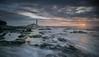 On the Rocks (ianbrodie1) Tags: stmarys lighthouse rocks shimmer light sun sunrise cloudsstormssunsetssunrises sea seascape leefilters clouds coast coastline ocean