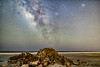 Folly Beach Milky Way (Robert Loe) Tags: milkyway cosmos space sky stars nightskystars lightpainting lightcrafter rocks water sand island explored