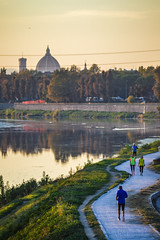 Running in the city (Bart_24_) Tags: city running sport sunset duomo florence italy nikon photo river landscape view