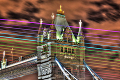 Tower Bridge and Lasers (andy.gittos) Tags: london tower bridge thames laser show galaxy s9 samsung projection city skyline