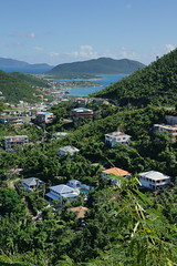 Sea views (Andy Coe) Tags: cruise ship thomson marella discovery caribbean british virgin islands hurricane destruction devastation damage property houses homes roads cars boats