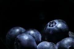 Moody Blues (Pog's pix) Tags: macro lowkey blueberries fruit detail dark black blue food edible tabletop creative berries blueberry tasty moody indoor