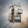 Flying Rotaprint House (Photothomas85) Tags: composing photoshop artwork manipulation house clouds surreal digital