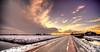 West Frisian winter. (Alex-de-Haas) Tags: 11mm aurorahdr d750 dutch hdr holland irix nederland nederlands netherlands nikon noordholland photomatix westfrisia westfriesland art artistic artistiek beautiful betoverend bevroren boerenland cloud clouds cold daglicht daylight desolate farmland fire flat frozen heaven hemel kou kunst landscape landschap licht light lucht mooi plat polder skies sky sneeuw snow sunrise verlaten vuur water winter wolk wolken wonderful zonsopgang