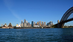 Megalonissos entering Sydney 3 (PhillMono) Tags: nikon dslr d7100 australia megalonissos cargo freight ship boat vessel tug city sydney circular quay panorama skyline cityscape