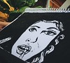 Se apaga la luz... (brendawunsche) Tags: paint watercolor woman face black sketch garabato