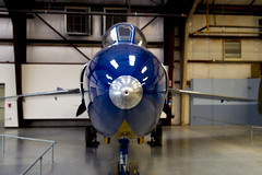 F11 Tiger Blue Angel (aaronrhawkins) Tags: f11 fighter jet blue angels navy pima county air space museum tucson arizona hanger nose wing fast shiny speed aaronhawkins