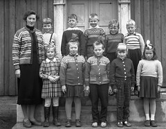 Class photo (theirhistory) Tags: children boys kids class form school teacher girl jumper cardigan shoes sandals wellies rubberboots