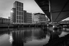 Attention Tokyo (Shovokureski) Tags: bridge architecture monochrome tokyo street river