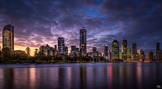 Brisbane City Lights Pano