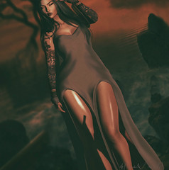 """""""She must be a mermaid because her mind swims in a depth most would drown in"""" (Hunnie.VonM) Tags: secondlife sl speakeasy thedollhouse flairforevents sintiklia blackfair monthlymidnightmadness narcisse maitreya catwa"""