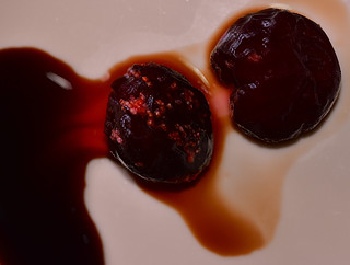 Black Cherrys drizzled  with Balsamic vinegar