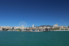 Hafen von Málaga (Rod Elbahn) Tags: málaga spanien hafen meer mittelmeer hafenrundfahrt riesenrad andalusien canon 750d