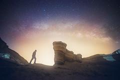 Nowhere (Explored) (Alex Savenok) Tags: fineart art milkyway milkywaygalaxy desert relax dreamscape dreams landscape nightsky nightscape night nightlight light stars