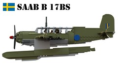 Saab B 17BS (Matthew McCall) Tags: lego moc military aircraft recon reconnaissance floatplane sweden swedish ww2 saab b 17bs bomber