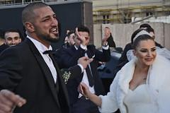 wedding in the street (t.horak) Tags: wedding groom bride hands clap face happiness beard