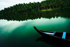 The Lagoon , Kerala (GNandhra) Tags: seascspe peaceful serene calm paradise tropical landscape water boattrip boat lagoon india kerala