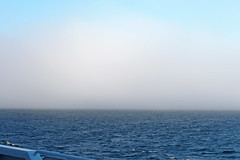 In the Fog (PDX Bailey) Tags: ocean sky sea water boat ship blue bay mist weather