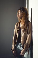 Niema (aminefassi) Tags: portrait windowlight people mode fashion leather beauty