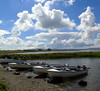 Boats (stuartcroy) Tags: orkney island beautiful blue bay beach boat scotland sony scenery sky still reflection ripples clouds