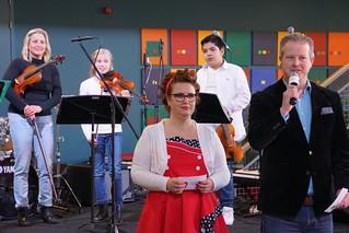 Ellis Rijkers en Michiel Bakker presenteren de Kick-Off van Omroep Meierij in ´t Spectrum in Schijndel op zaterdag 24 maart 2018. Een voorbode voor de uitzending.