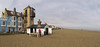 Aldeburgh          170324 227-232 (vintage 1953 & wackymoomin) Tags: pano panorama photomerge aldebrough suffolk uk england coast seaside beach tower lookout march olympus em10mkii silkypix