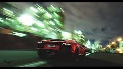 Lamborghini Aventador (at1503) Tags: green light shadows dark cooltones motion blur industrial railwaylines brakelights taillights red wheels lamborghini aventador v12 supercar italian japan night cloud backlighting granturismo granturismosport digitalmotorsport digitalphotography motorsport racing game ps4