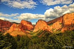 Kolob Canyons (pandt) Tags: kolobcanyons kolob utah newharmony zionnationalpark sky clouds blue white red mountains trees green outdoor landscape scenic turnout flickr canon eos slr canyon mountain road rebel t1i