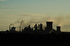 Scunthorpe Skyline (Sweeting Thorns) Tags: industry industrial heavy steel steelworks works factory silhouette smoke steam chimney cooling tower gas gasholder british uk england scunthorpe north lincolnshire tata sunrise morning early haze landscape