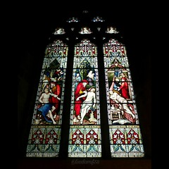 Stained glass window (mrsf1958) Tags: church churchwindow stainedglass stainedglasswindow colours arch