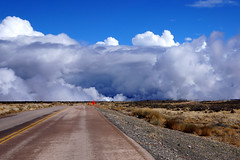 almost arrived (tamasmatusik) Tags: road sky landscape cloud grandcanyon arizona clouds cloudporn bluesky detour nature roadtrip sony sonynex nex6 30mm sigma sigmalens milc dolansprings colors sunny usa mohave mohavecounty mojave
