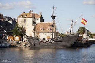 Barco español en Honfleur - Normandía
