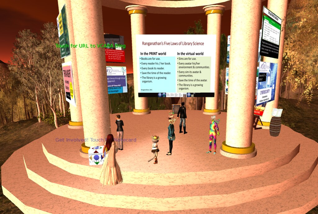 a7da7269cc44 Val Librarian demonstrating her CVL exhibit (lyrlobo) Tags  npc vwbpe  vwbpe18 secondlife virtualworlds