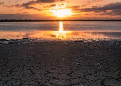 Lagoon Sunset. (PebblePicJay) Tags: cuba sunset travel yellow orange dusk sky sponge landscape contrast lagoon water canon