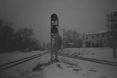 Holga - signals img035 (T. Brian Hager) Tags: holgagcfn holga film fujipro400h analog cropped railroad railroadtracks signals phillipsburgnj nj snow snowstorm epsonv600 epson 120 120film