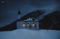 Winter night in Achenkirch (VandenBerge Photography) Tags: austria canon europe travel achenkirch winter eos 80d tyrol snow evening night snowing light
