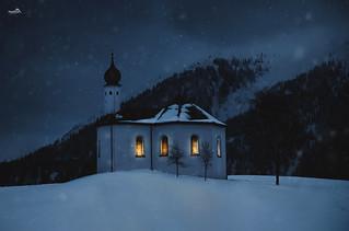 Winter night in Achenkirch