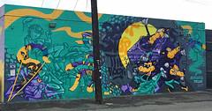 Don't Stop The Rock by Melon & Kawika (wiredforlego) Tags: graffiti mural streetart urbanart aerosolart publicart hawaii oahu honolulu powwowhawaii powwow melon kawika ckaweeks