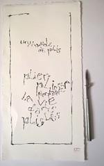 3. Rechercher une écriture à partir des formes relevées sur la photo. Ecrit au tire-ligne.