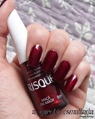 Esmalte Maçã do Amor, da Risqué. (A Garota Esmaltada) Tags: agarotaesmaltada unhas esmaltes nails nailpolish manicure maçãdoamor risqué vermelho red metálico