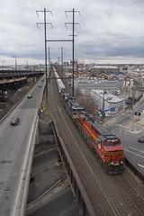 20E in Newark - 3/25/2018 (John McCloskey Jr.) Tags: trains heritage units norfolk southern railway 8114 es44ac new jersey transportation outdoors conrail shared assets csao newakr newark emd sd60 sd70acu ups city pennsylvania railroad