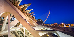 City of Arts and Sciences | Ciutat de les Arts i les Ciències (K.H.Reichert [ not explored ]) Tags: turia architectur architektur santiagocalatrava félixcandela entertainmentbased cultural architecturalcomplexinthecityofvalencia cityofartsandsciences sightseeing valencia spain calatrava stadtderkünsteundderwissenschaften museudelesciènciespríncepfelip pontdelassutdelor architecture cinema ciutatdelesartsilesciències architekten wahrzeichen espania valència comunidadvalenciana spanien es