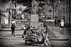 Back To Dordrecht Again (Alfred Grupstra) Tags: motorcycle blackandwhite people street urbanscene motorscooter citylife city outdoors transportation women men travel cultures car retrostyled modeoftransport editorial oldfashioned