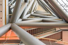 Innenansicht Stadttor II (ARTUS8) Tags: pastell flickr lookingup innenarchitektur nikon28300mmf3556 linien modernearchitektur nikond800 treppe