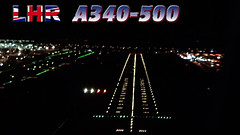 Heathrow Late Landing Clearance A340-500 (JustPlanes) Tags: london heathrow airport arikair hifly airbus a340 a340500 pilot pilotsview pilotseye cockpit flightdeck