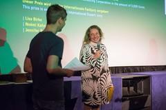 Claudia Gladziejewski als Repräsentantin des Kurzfilmpreis des Bayerischen Rundfunks.