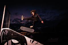 Skater (Graham Codd) Tags: claphamcommon lights march2018 skatepark skateshoot skateboard skater studiolight london jump evening nighttime outdoor