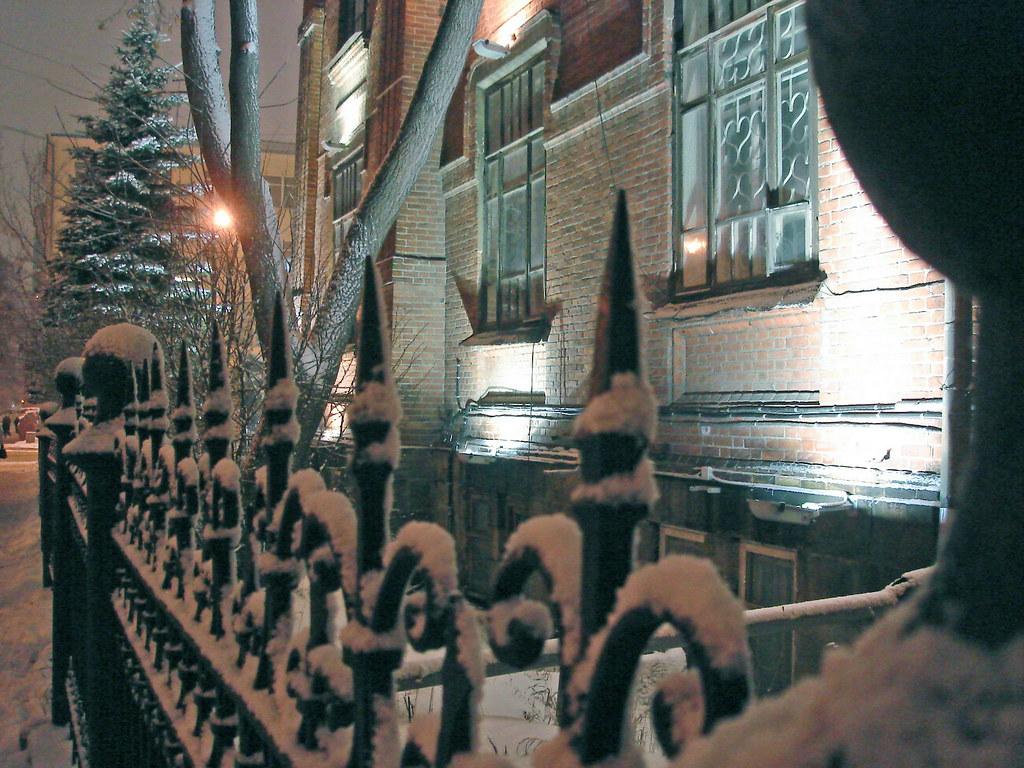 фото: Заснеженная ограда