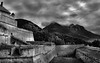 Briançon - City Walls (Eric@focus) Tags: noiretblanc vauban paca silverefexpro2 monochrome citadel rempart citadelle filterforge lightingeffect noiretblancnegroyblancoblackandwhitesepia neroametà zwartwit mono nb bw